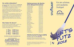 Faltblatt Let´s`Putz